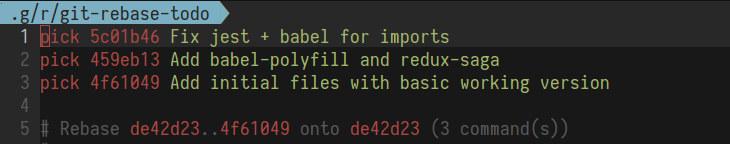 interactive rebase alias