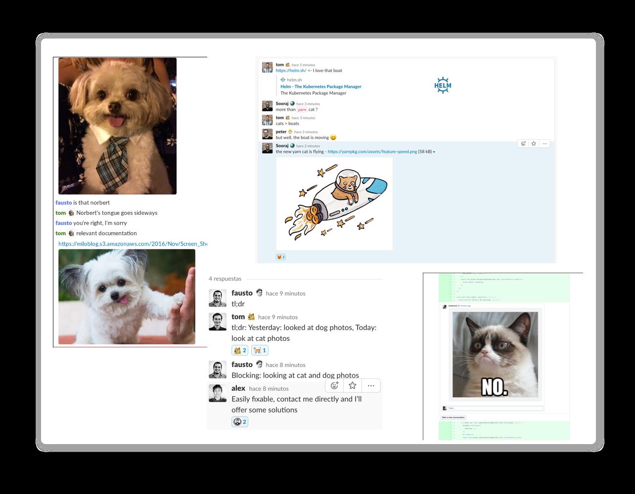 store2be communication in Slack.