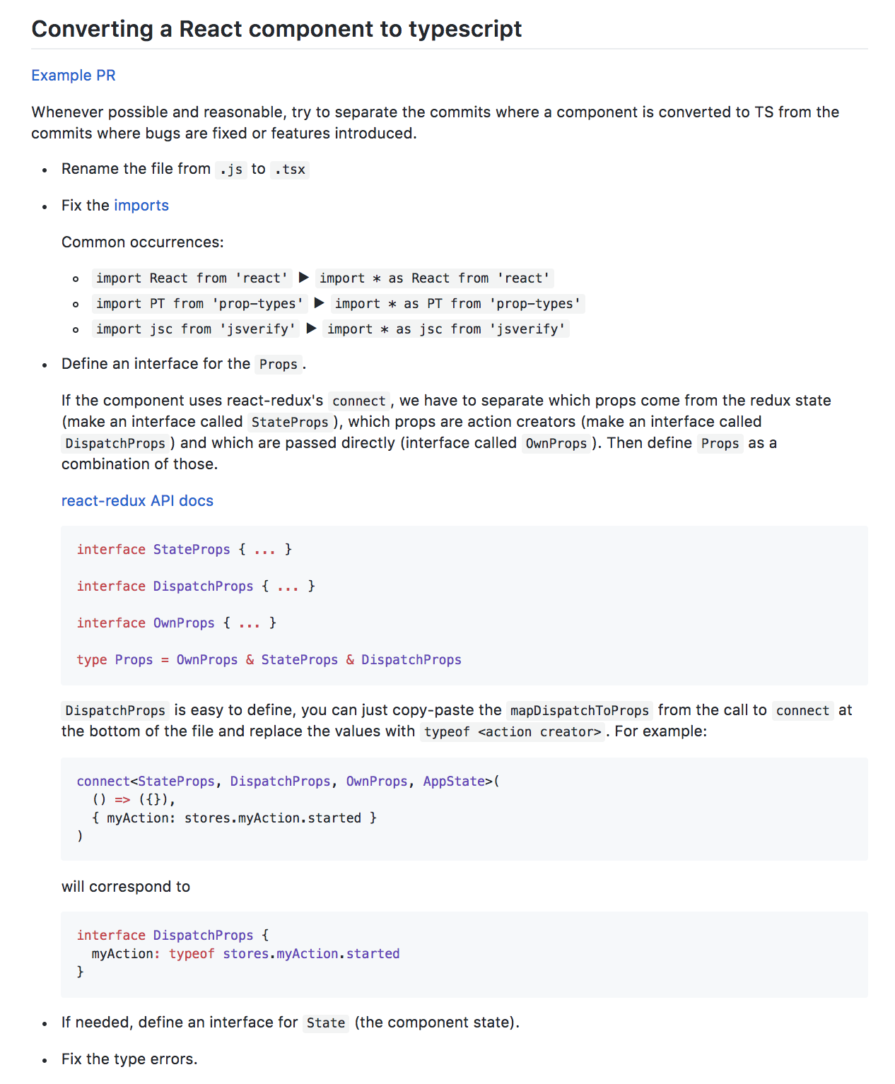Typescript to Javacript conversion documentation.